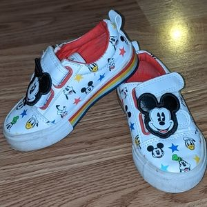 Disney Mickey Mouse Velcro Leather Sneakers